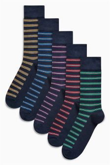 Colour Pop Stripe Socks Five Pack