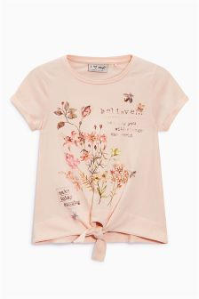 Floral Tie Front T-Shirt (3-16yrs)