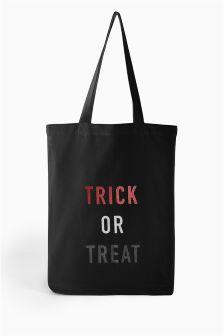 Trick Or Treat Print Shopper Bag