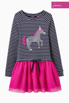 Joules Navy Stripe Layered Dress
