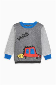 Car Knitted Jumper (3mths-6yrs)
