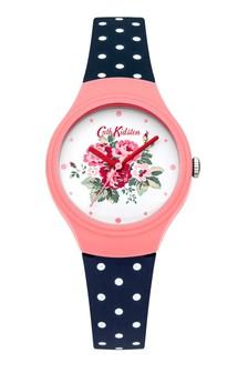 Cath Kidston Navy Polka Dot Watch