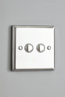 Chrome Double Touch LED Dimmer Switch