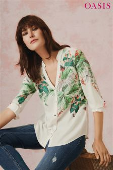 Oasis Multi Natural ZSL Print Shirt