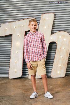 Tommy Hilfiger White Multi Brick Check Shirt