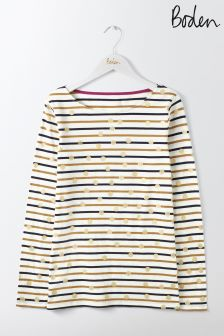 Boden Ivory/Camel Gold Spot Make A Statement Breton