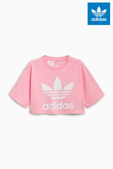 adidas Originals Pink Crop Tee