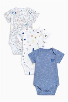 Monkey Print Short Sleeve Bodysuit (0mths-2yrs)