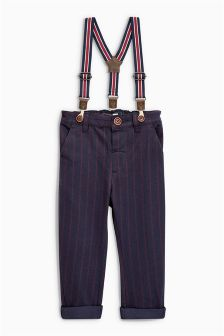 Braced Pinstripe Trousers (3mths-5yrs)