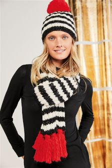 Stripe Knitted Scarf
