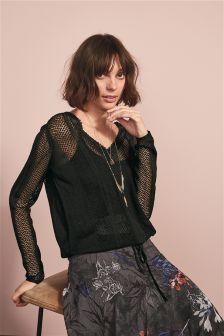 Lace Trim Sweater