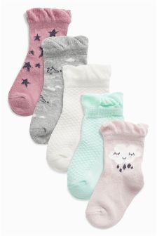 Cloud Socks Five Pack (Younger Girls)