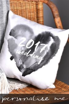 2017 Special Occasion Grey Cushion By Letterfest