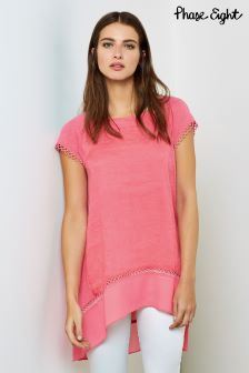 Phase Eight Pink Ava Crochet Trim Blouse