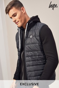 Hype. Black Quilted Gilet