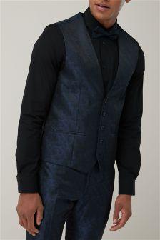 Leaf Jacquard Suit: Waistcoat