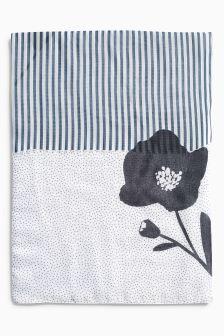 Floral Stripe Scarf