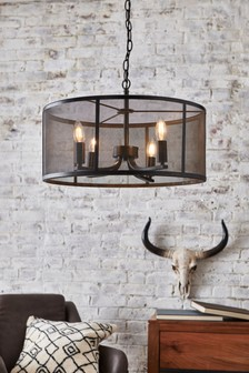 Rustic Mesh 4 Light Pendant