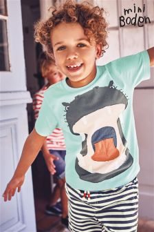 Boden Blue Animal Appliqué T-Shirt