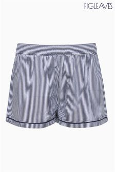 Figleaves Navy Stripe Ella Short