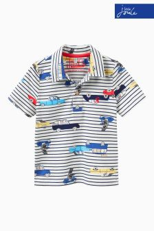 Joules Cream Stripe Jersey Polo