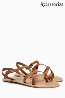 Accessorize Tan Luisa Strappy Sandal