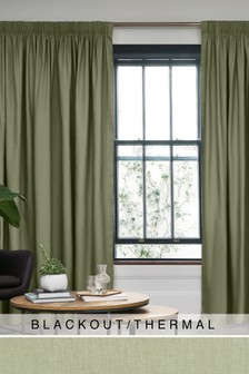 Cotton Studio* Pencil Pleat Blackout/Thermal Curtains