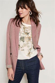 Linen Blend Slub Jacket