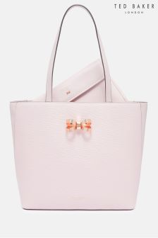 Ted Baker Pink Larah Bow Leather Tote Bag
