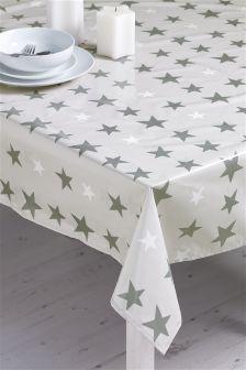 Glitter Star Wipe Clean PVC Tablecloth