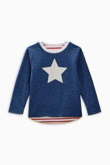 Long Sleeve Reversible T-Shirt (3mths-6yrs)