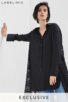 Mix/Teatum Jones Fluid Contrast Back Shirt