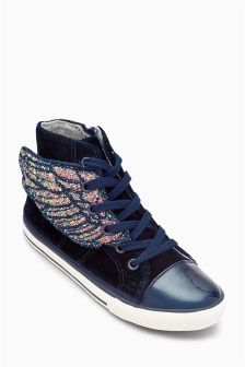 Velvet Wings High Tops (Younger Girls)