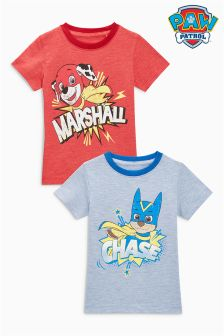 Short Sleeve Paw Patrol T-Shirts Two Pack (3mths-6yrs)