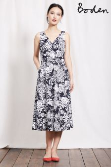 Boden Navy Fresco Floral Vanda Broidery Dress