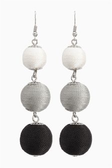 Three Ball Drop Earrings