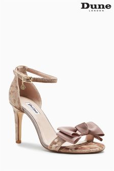 Dune Moella Mink Velvet Two Part Sandal