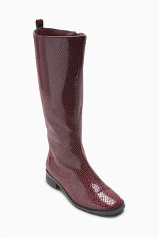 Snake Effect Tall Boots (Older Girls)