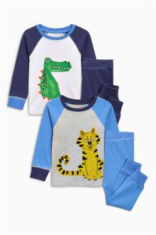 Tiger/Crocodile Pyjamas Two Pack (9mths-8yrs)