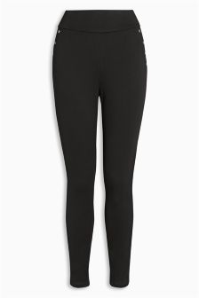 Rivet Detail Ponte Leggings