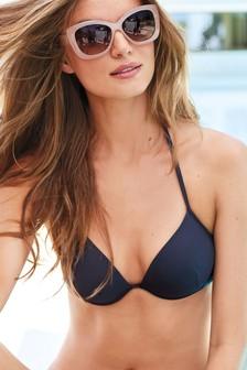High Shine Padded Underwired Bikini Top
