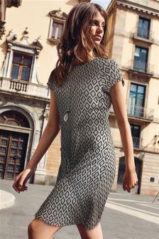 Jacquard Pocket Dress