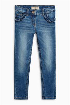Frill Pocket Skinny Jeans (3-16yrs)