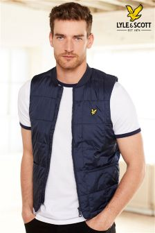 Lyle & Scott Navy Padded Gilet