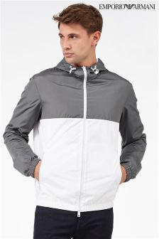 Emporio Armani Grey/White Colourblock Jacket