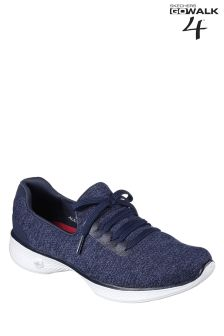 Skechers® GO Walk 4 Navy Slip On With Lace Detail