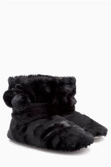 Faux Fur Pom Boots