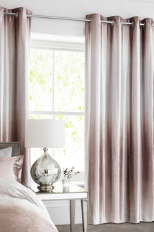 Ombre Velvet Blackout Eyelet Curtains