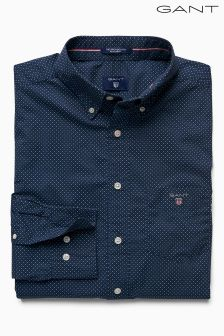 Gant Blue Printed Broadcloth Shirt