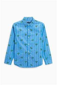 Long Sleeve Dino Print Shirt (3-16yrs)